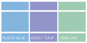 blue purple green