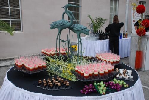 Coral Gables Wine and Food Festival food display