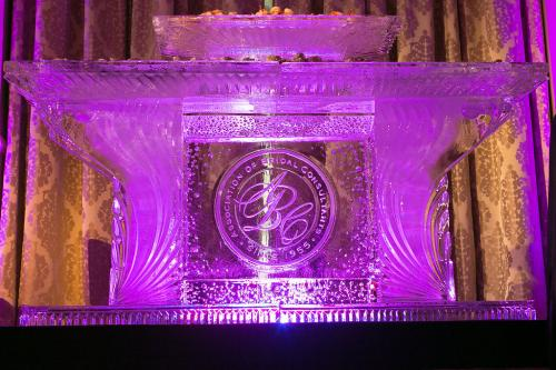 Ice table for seafood display, ABC Dallas, Adolphus Hotel