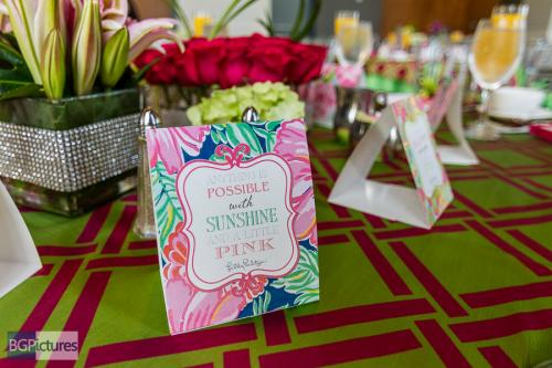 Pink and Green Lilly Pulitzer theme, Association of Bridal Consultants, West Palm Beach