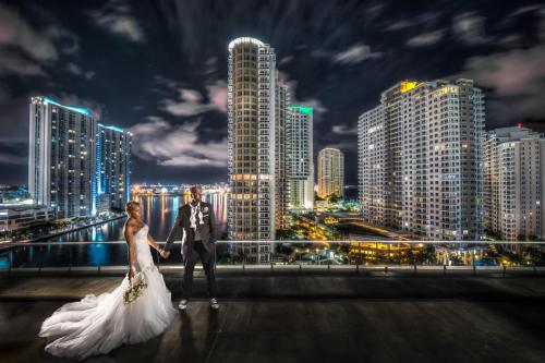 Wedding at W Miami formerly Viceroy Miami on pool deck