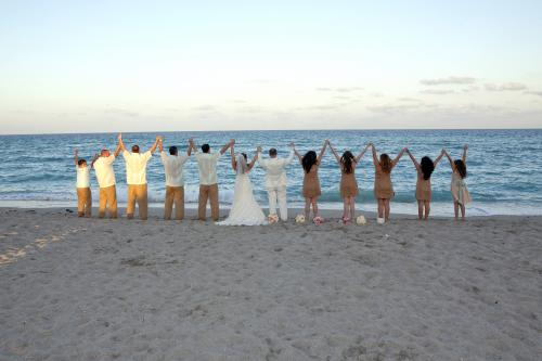 beach wedding party Miami