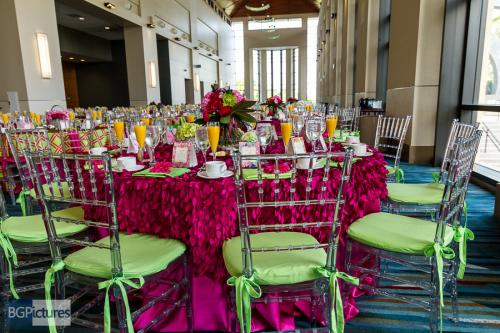 Breakfast with Pink and Green Lilly Pulitzer theme, West Palm Beach Convention Center, ABC Conference